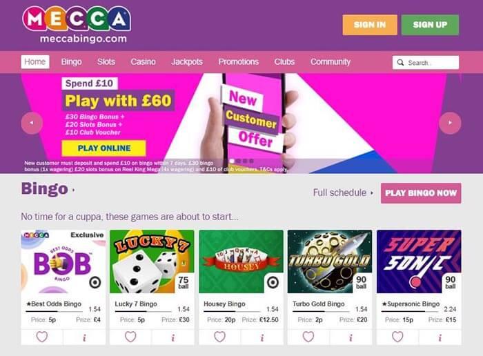 Mecca bingo free daily spin free